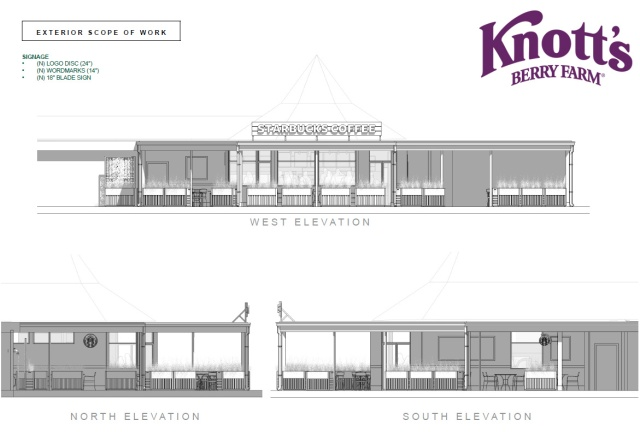 Knott's Berry Farm Starbucks_Elevations