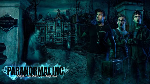 Paranormal Inc Hero with Logo Slide